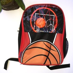 Other - Red Backpack With Basketball Hoop And Ball!